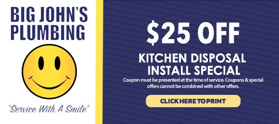 discount on kitchen and garbage disposal repairs