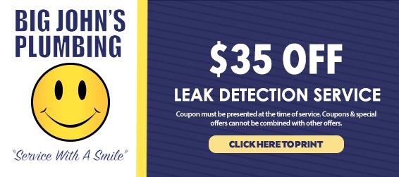 discount on leak detection services