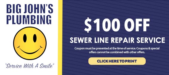 discount on sewer line repair services